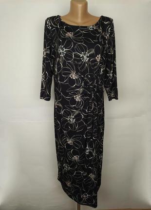 Платье красивое вискозное трикотажное marks&spencer uk 16/44/xl