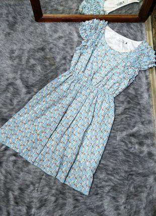 Платье с принтом котики