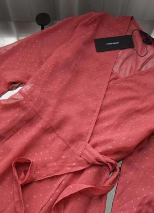Платье с рюшами (новое, с биркой) vero moda
