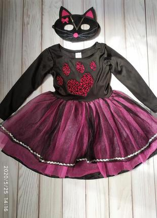 Платье костюм кошка кошечка 2-3 года
