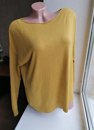 Мягкий горчичный свитер модал акрил италия anouk (к084)