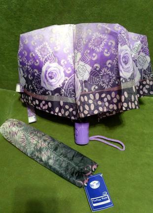 Зонт зонтик компактный полуавтомат облегченный.