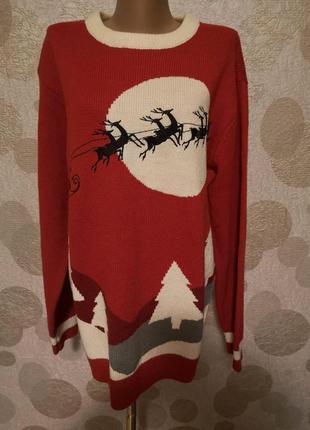 Новогодний свитер шерсть в составе