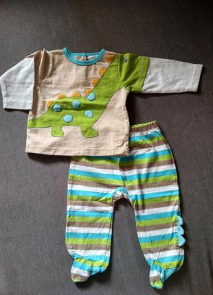 Детский костюмчик /комплект малышу absorba сша, диназовр, 3-6м