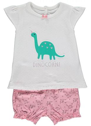 Костюм динозаврики george футболка и шорты