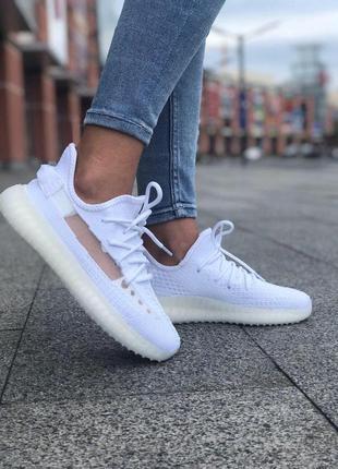 Кроссовки adidas yeezy boost 350 white адидас белые