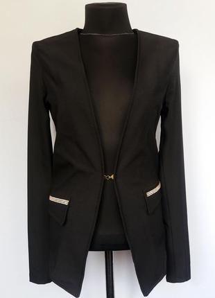 Суперцена. стильный черный пиджак. новый, р-ры 44, 46