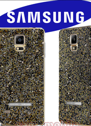 Крышка батарейного отсека Swarovski Gold Cover Samsung Note 4