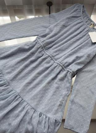 Платье с рюшами (новое, с биркой) h&m