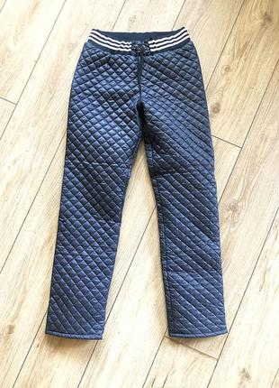 Теплые стеганые штаны