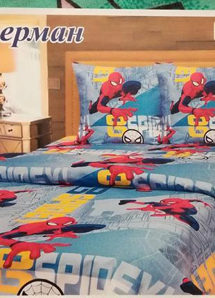 Детское постельное белье,  бязь.  человек паук