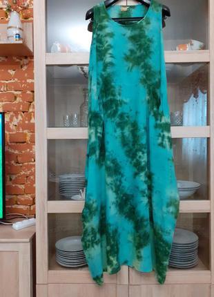 Очень стильное с карманами платье большого размера