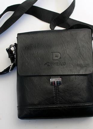 Барсетка, сумка через плечо, прессованная кожа, сумка, мужская...