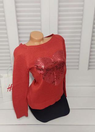 Свитшот, свитер, джемпер красный s