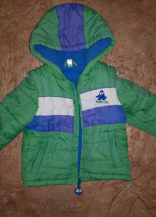 Курточка - трансоформер cool club с монстриком