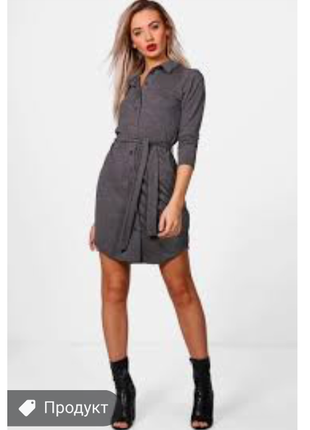 Платье мини с рукавом вискоза boohoo