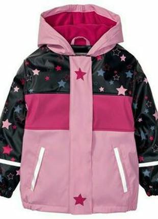 Дождевик грязепруф  куртка на флисе для девочки lupilu