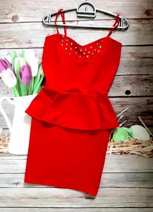 Стильное яркое платье мини