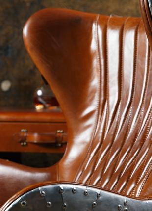 Дизайнерське крісло Aviator Egg chair (Егг) алюміній