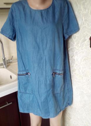 #peacocks#легкое джинсовое платье #большой размер 16 #