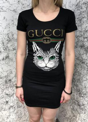 Платье  dress angry cat with web black черное с кошкой
