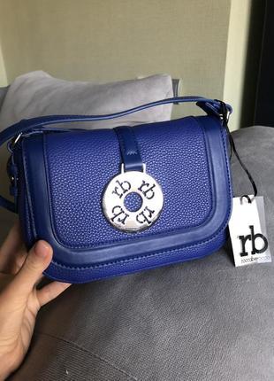 Новая брендовая синяя сумка сумочка roccobarocco{оригинал}, ka...