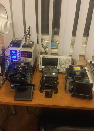 Ремонт сварочных аппаратов оптоволокна, рефлектометров, трассоиск