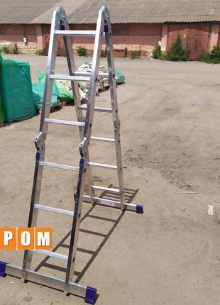 Шарнирная универсальная лестница трансформер 4*3
