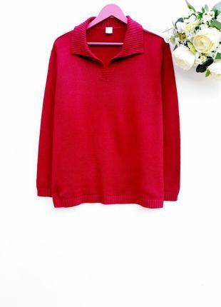 Красивый яркий свитер большой размер стильный добротный свитерок