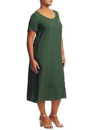 Большой размер! натуральные комфортное льняное платье, натурал...
