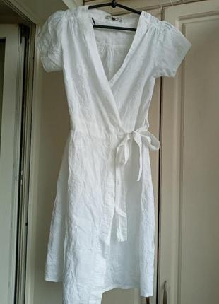Белое платье прошва на запах