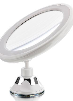 Зеркало для макияжа с подсветкой и увеличением 10x