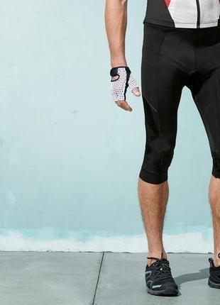 Велокапри crivit,лосины укороченные с памперсом, спортивная од...