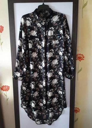 Платье рубашка, платье в цветочный принт ad lib