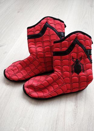 Сапоги ботинки карнавальные человек паук спайдер мэн