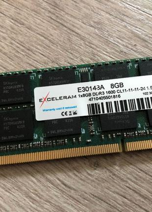 Оперативная память DDR3 8GB 1600 MHz SO-DIMM