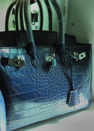 Женская сумка в синем цвете постоянные скидки и распродажи