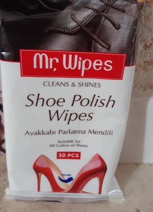 Салфетки для обуви mr.wipes farmasi фармаси