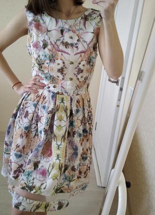 Платье миди цветочный принт dorothy perkins р.48