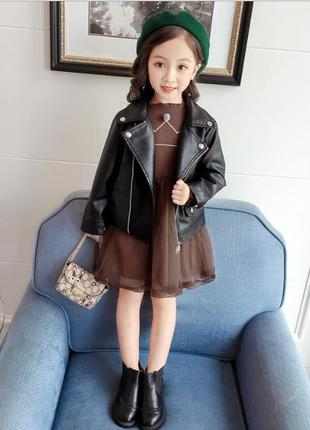 Стильная кожаная куртка косуха унисекс с 90 по 130 размер