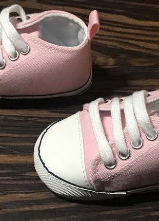 Кроссовки,кеды пинетки Converse all star 3-12 месяцев