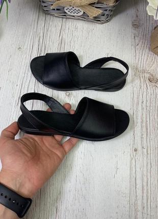 Черные кожаные босоножки сандалии менорки минорки