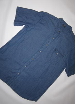 Отличная хлопковая рубашка цвет деним sale