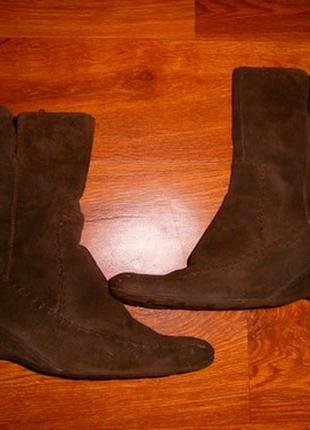 Женские демисезонные ботинки, полусапожки из натуральной замши...