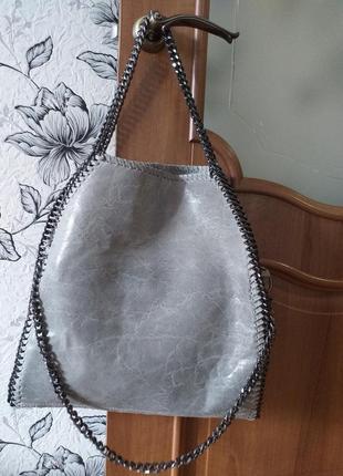 Кожаная сумка в стиле  stella mccartney