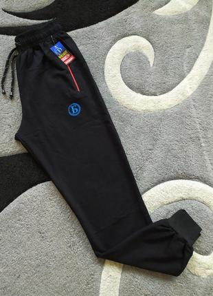 Спортивные штаны с манжетом, черные спортивные штаны, штаны уз...