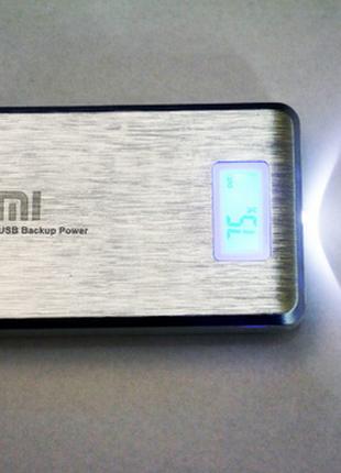 PowerBank Xlaomi Mi Powerbank 2 USB + Экран 28800mAh  ПоверБанк П
