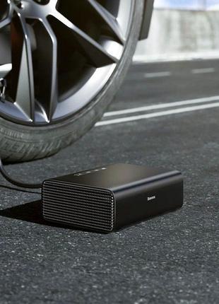 Автомобильный насос Baseus Smart Inflator Pump Black