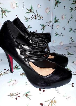 🎁1+1=3 фирменные кожаные туфли на высоком каблуке dorothy perk...