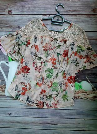 Стильная нежная блузка шифоновая